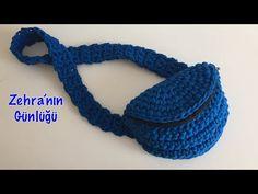Sac à bandoulière en corde peignée - penye ip - Free Pins Crochet Belt, Crochet Wrap Pattern, Love Crochet, Crochet Handbags, Crochet Purses, Crochet Bag Tutorials, Crochet Backpack, Finger Knitting, Macrame Bag