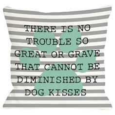 Bring a pop of style to your sofa or arm chair with this charming pillow, showcasing a striped background and typographic motif.     ...