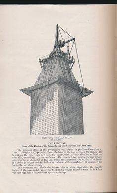 1913 booklet about the building of the Washington Monument incl 1907 map of D.C.