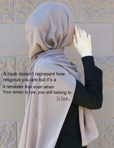 A hijab doesnt represent how religious you are but its a reminder for eman. when your eman is low, you still belong to islam