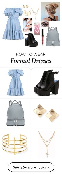 """First day of school formal"" by emily6600 on Polyvore featuring MICHAEL Michael Kors, Casetify, BauXo, Valentino and Kylie Cosmetics"