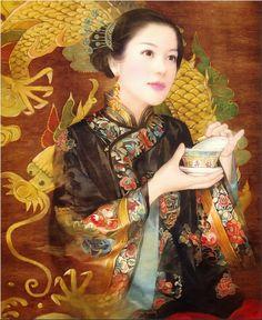 Pinturas do AUwe - Der Jen - Pinturas - Beleza Chinesa
