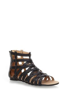 Rainbow Shops Criss Cross Caged Gladiator Sandals $12.99