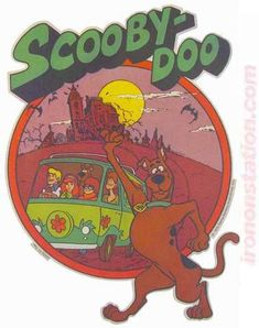 Scooby-Doo and the Gang Vintage 70s Iron On tee shirt transfer Original Authentic animation cartoon