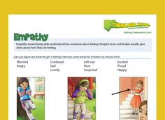 Free worksheets and powerpoints that teach children how to read emotions. Helps teach empathy.