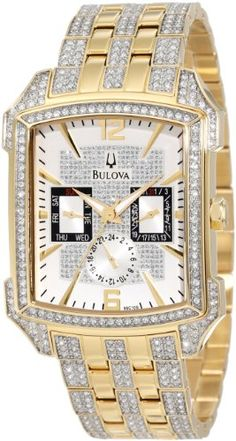 Men's Wrist Watches - Bulova Mens 98C109 Crystal Striking Visual Design Watch >>> Be sure to check out this awesome product.