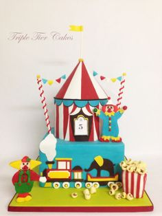Big Top Circus Cake - Cake by Triple Tier Cakes Cupcakes, Cupcake Cakes, Gorgeous Cakes, Amazing Cakes, Circus Birthday, Birthday Cakes, Circus Party, Birthday Parties, Circus Theme Cakes