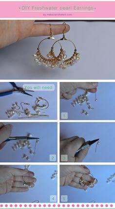 make it & fake it--freshwater pearl earrings