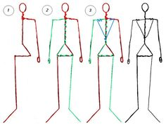 Here is a three-step guide to making a wire armature for a human male clamation figure to correct standard human proportion (approx. to the first three images show how to shape each of the t.Resultado de imagem para wire skeleton for dollmakingFirst Clay Dolls, Art Dolls, Sculptures Sur Fil, Wire Sculptures, Doll Making Tutorials, Paper Mache Sculpture, Human Sculpture, Sculpture Art, Ideias Diy