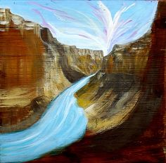 "Saatchi Online Artist Ilaria Berenice; Painting, ""Beyond the Canyon"" #art"