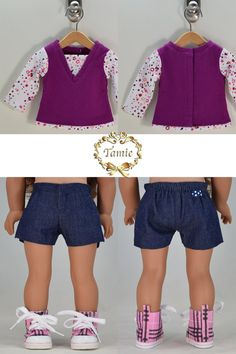 Handcrafted 18 inch doll clothes fits AG Dolls by PurpleRoseNY2nd