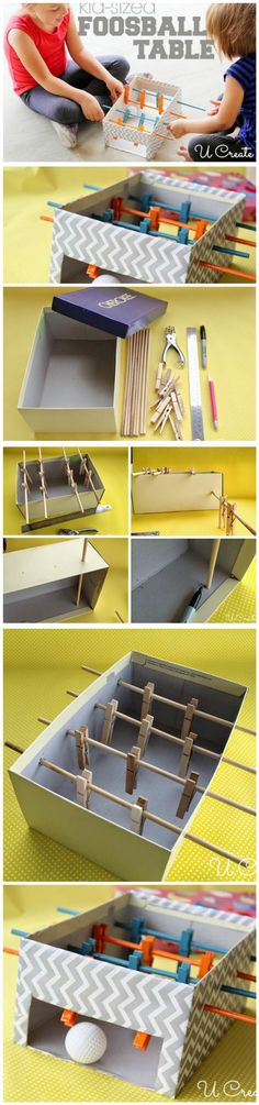 How to Easily Make a Mini Foosball Table