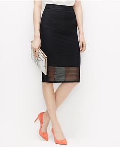 Primary Image of Mesh Pencil Skirt