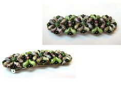 HAIRCLASP IN BLOOM with ZoliDuo Beads http://www.scarabeads.club/hairclasp-in-bloom/