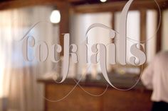 Love this cocktail signage on mirror  Read more - http://www.stylemepretty.com/2013/10/08/ojai-wedding-from-yvette-roman-photography-and-sterling-social/