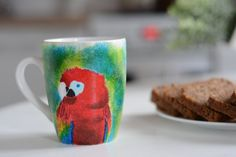 Parrot l Ceramic Mug Unique Gift Coffee Mug by ElaisUniqueGifts