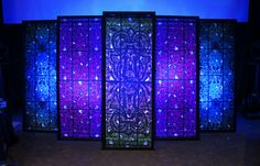 Backlit Faux Stained Glass Stage Element | Front | Flickr - Photo Sharing!