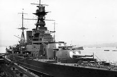 HMS Hood not long after her completion 1920's