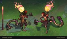 ArtStation - Taim and Ma'Rid : The Boon and The Bane, Oussama Agazzoum Lol Champ, League Of Legends Characters, Fictional Characters, Rid, Concept Art, Witch, Character Design, Cartoon, Artwork