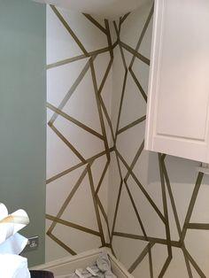 How To Hang Wallpaper, Wallpaper Paste, More Wallpaper, Beautiful Space, Simple, Easy, Interiors, Basement, Interior