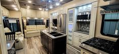 Real wood cabinetry. Residential appliances. Custom handmade furniture. All this in more with Luxe Luxury Fith Wheels Luxury Fifth Wheel, 5th Wheels, Handmade Furniture, Build Your Own, French Door Refrigerator, Real Wood, Floor Plans, Kitchen Appliances, Flooring