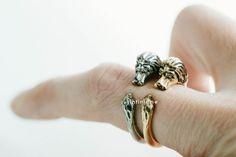 Lion adjustable ring,R341N