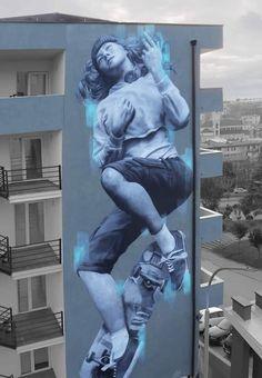 straßenkunst JDL Mattress Selection - A Practical Approach I have been using the same old bed ever s 3d Street Art, Murals Street Art, Street Art Graffiti, Mural Art, Street Artists, Wall Murals, Art Art, Banksy Graffiti, Best Graffiti