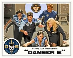 "Danger 5 Lobby Card #3 - ""In the balance"""