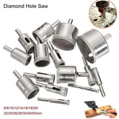 Diamond Hole Saw Drill Bit Set 100 Grits Tile Ceramic Glass Marble in Home & Garden, Tools & Workshop Equipment, Power Tool & Air Tool Accessories, Drill Bits Adjustable Desktop, Bit Set, Tile Saw, Glass Ceramic, Glass Tiles, Job Opening, Glass Marbles, Macedonia, Montenegro