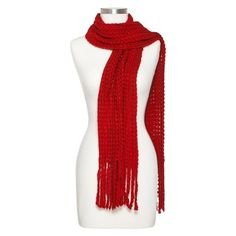 Women's Loose Knit Scarf with Fringe - Assorted Colors - Target