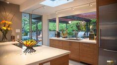 Eichler Kitchen Remodeling | Photos of Remodeled Mid-Century Modern Kitchens dishwasher hidden