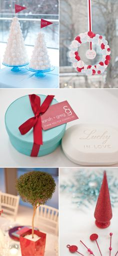 Love how the turquoise and red combination is popular for winter. Still the wedding combo I want for my own in a couple of years <3