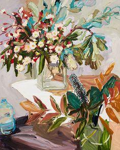 Laura Jones represented artist at Olsen Irwin ~ Biography and artworks online Australian Painting, Australian Artists, Art And Illustration, Art Floral, Artwork Online, Popular Art, Abstract Flowers, Botanical Art, Flower Art