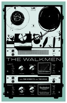 Gig poster for The Walkmen by DKNG