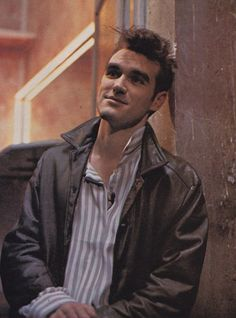 Morrissey of The Smiths: interview on the French TV show 'Les Enfants du rock' (18 May 1984) ― photo by Claude Gassian.