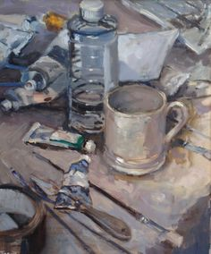 In The Studio by Mo Teeuw winner of The Artist exhibition Award and the Royal Talens Award
