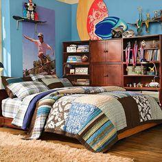 Decoração para quarto de meninos adolescentes.