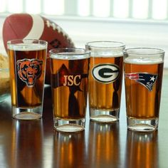 NFL Engraved Pint Glasses - All Teams