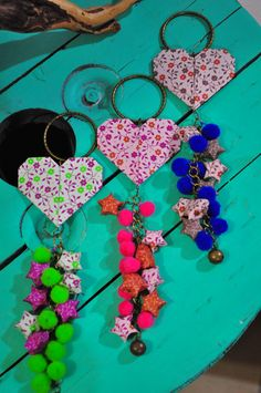 Decorá tus puertas y muebles con corazones de origami! Son un amor total!