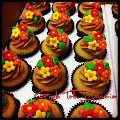 Cupcakes flores coloridas!