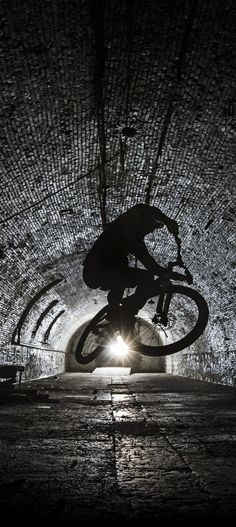 Light at the end of the tunnel. #bike