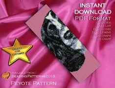 Peyote Pattern  Beading Pattern  Dog  B&W by BeadingPatterns2013