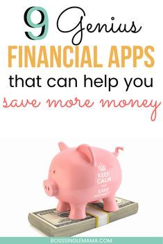 Is saving money a major hassle? Why not let an app do it for you? Check out the nine best financial apps for saving money now! Ways To Save Money, How To Get Money, Money Management Books, Management Tips, Financial Apps, Ibotta App, Frugal Family, Frugal Living, Money Saving Mom