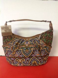 Tignanello Hobo Bag purse Cotton Multicolor Designer Fashion Stylish Hip Chic