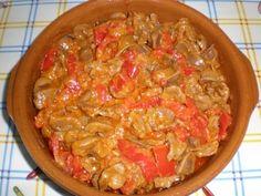 Mollejas de pollo con juliana de pimiento rojo Este plato de Mollejas de pollo con juliana de pimiento rojo, hoy...