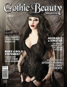 Features in this issue include AMF Korsets, J-Chan's Designs, Helene Hawthorne, Mythic Articulations, article on Goth Elitism, artist Elin Jonsson, Gothic Handbags, artist Jessica Dalva, Game of Thron Switchblades - Bigswitchbladeknife.com likes this