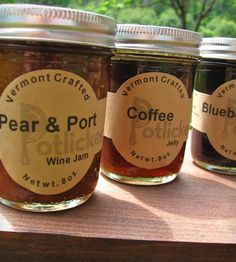 Artisan Jelly 3-Pack: Pear & Port Jam, Vermont Coffee Jelly & Blueberry Sage Jelly ||  Oh my word. This sounds amazing!!