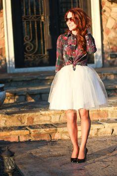 falda tul camisa cuadros