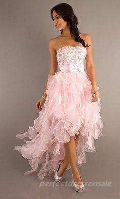 prom dress prom dresses Beautiful chiffon ruffles pink dress with bow