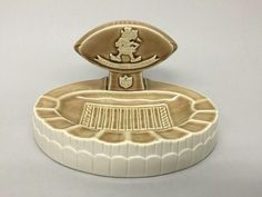 Vintage 1960 Weico CLEVELAND BROWNS NFL Football Team Stadium Ceramic Ashtray